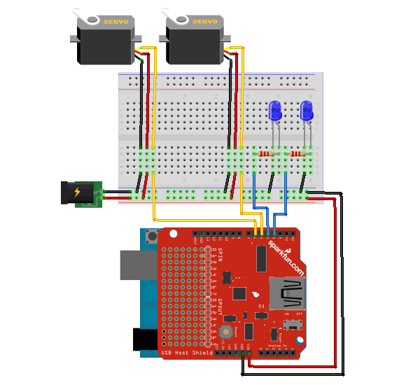 touch screen joystick to control pan tilt with arduino